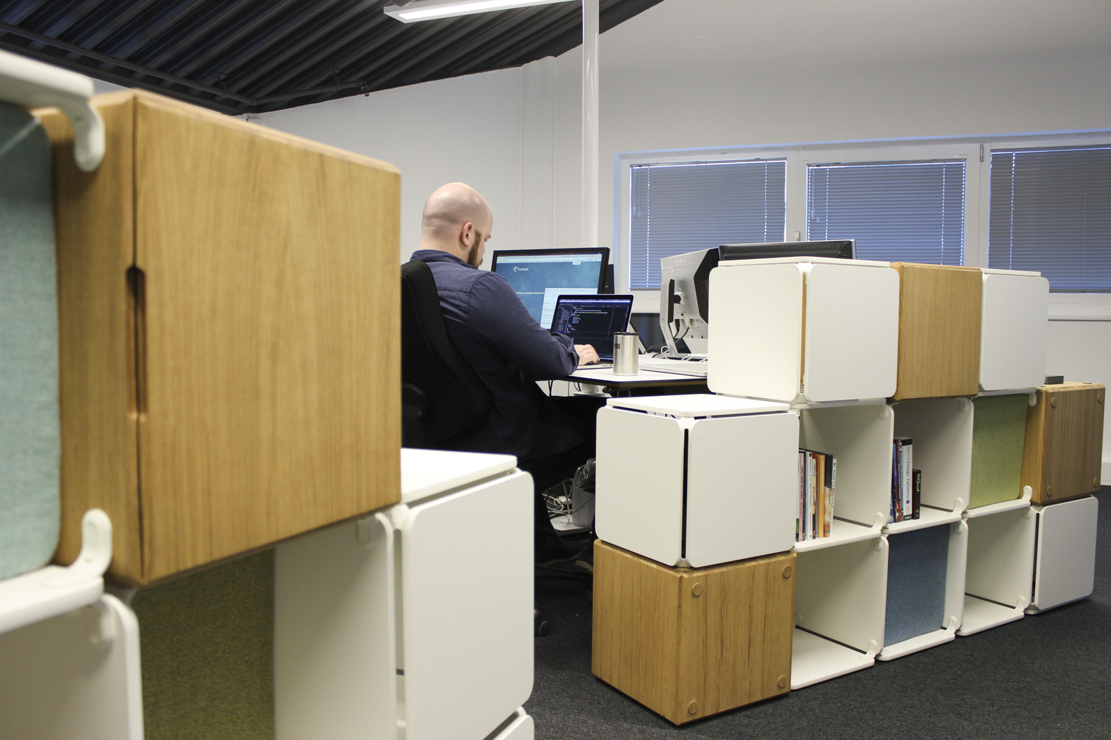 Variation and screening in open plan office